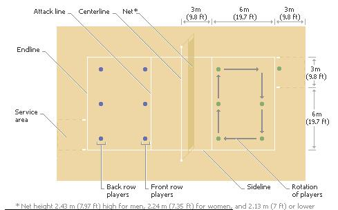 beach volleyball court diagram mercruiser pre alpha outdrive parts sports