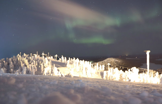 Northern Lights from Ruka mountain