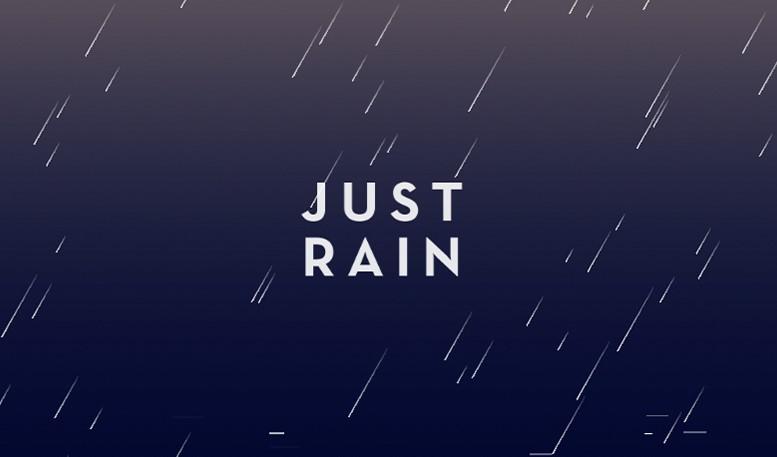 aplikasi pengantar tidur just rain