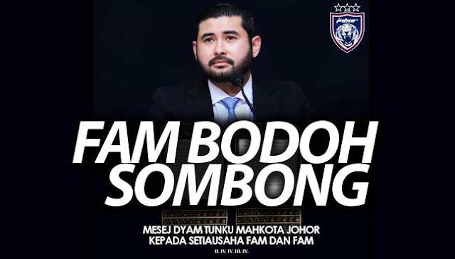 TMJ minta PM Tanya FAM 'Mana Duit'?