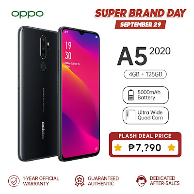 Exclusive Deal up to 18% Off For the OPPO A5 2020 On September 29 At Shopee