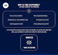 An infographic showing why social media wants your attention