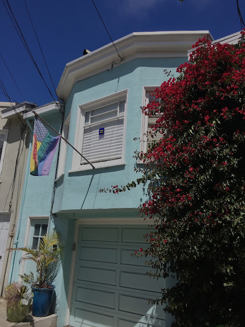 Rainbow flag San Francisco House