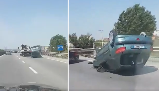 Κάλεσαν οδική βοήθεια στην εθνική οδό αλλά δεν φαντάζονταν αυτό το αποτέλεσμα (Βίντεο)