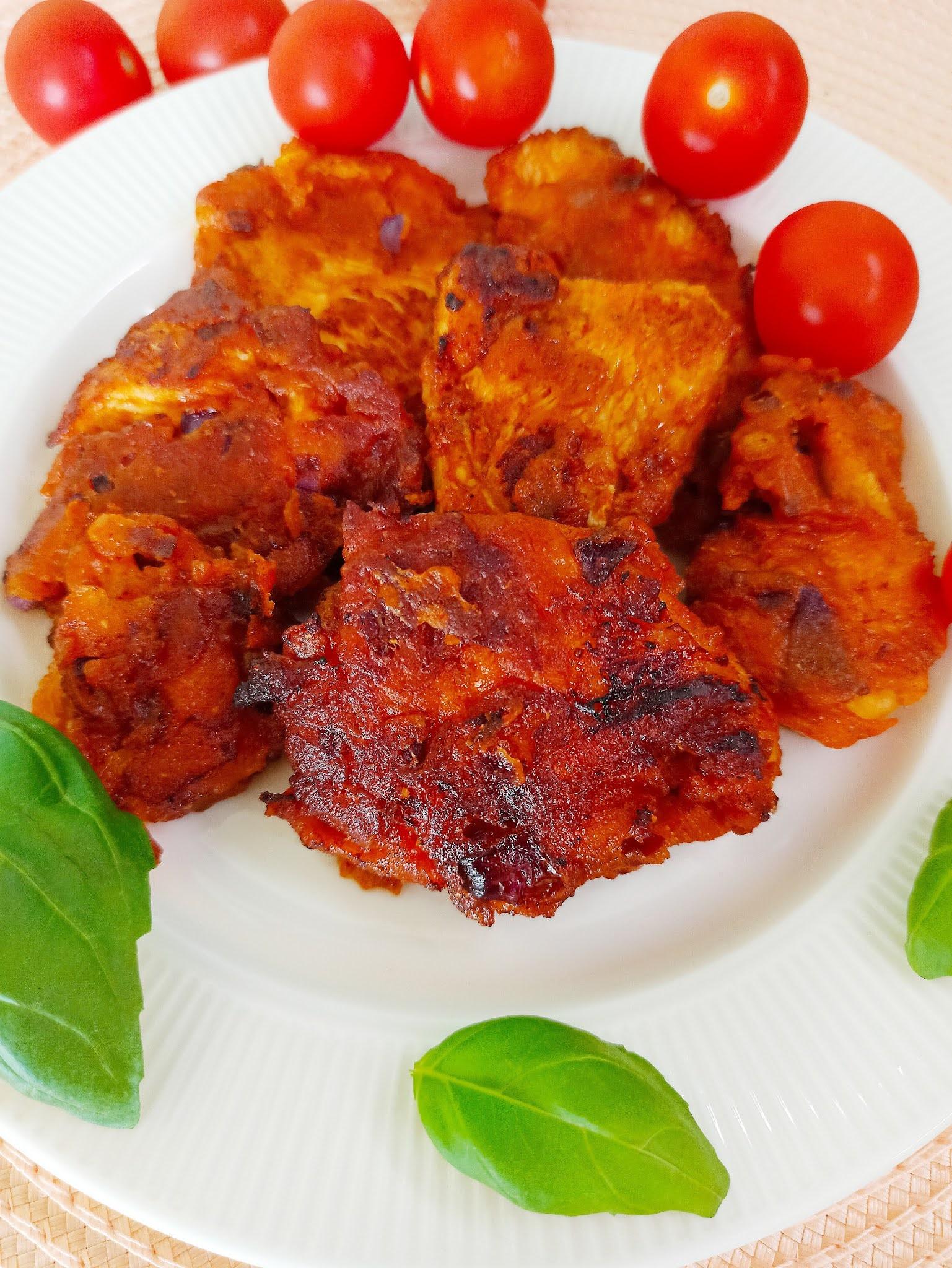 Kąski kurczaka w ketchupie i musztardzie