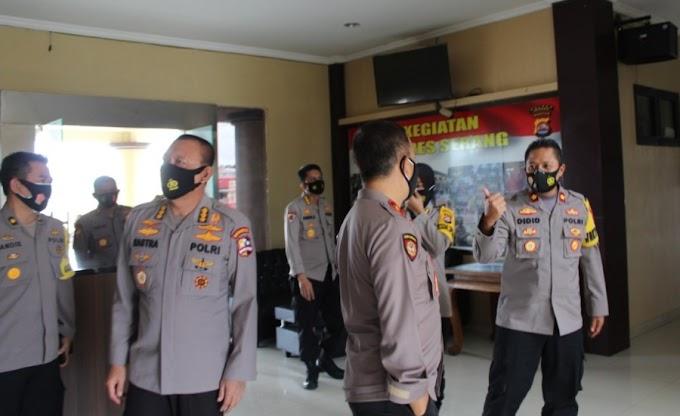 Dalam Rangka Ops Lilin Kalimaya 2020, Tim Supervisi Mabes Polri Kunjungi Polres Serang