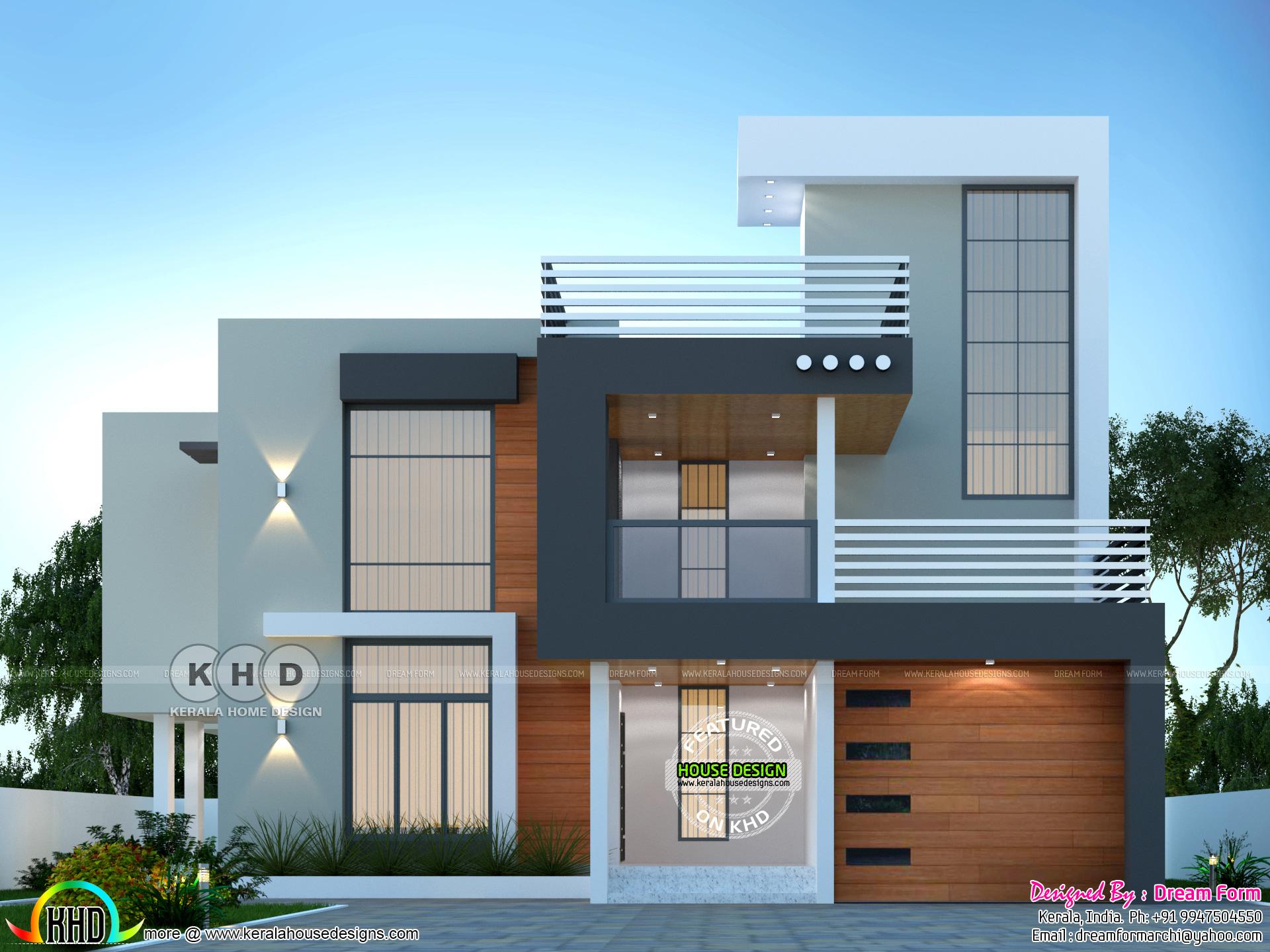 6 Bedrooms 4350 Sq Ft Modern Home Design Kerala Home Design And Floor Plans 8000 Houses