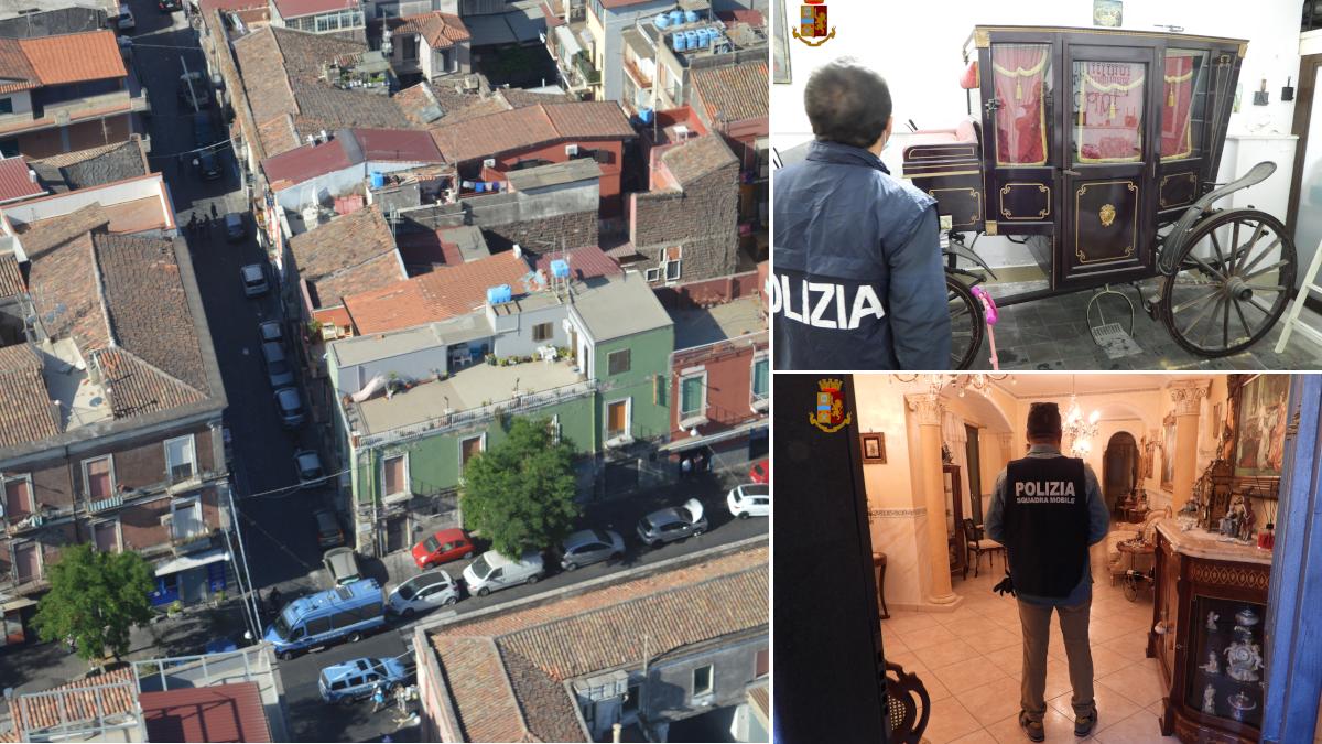 Confisca beni clan Santapaola Organizzazione mafiosa Santapaola Ercolano Polizia di Stato Amato