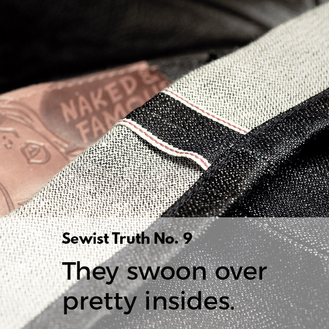 Secret No. 9: Sewists swoon over garments with pretty insides.