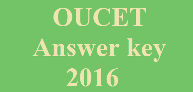 OUCET-2016-Answer-Key-