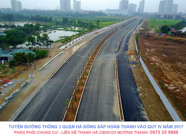 Tuyến đường thông 3 quận Hà Đông sắp hoàn thành vào quý IV năm 2017