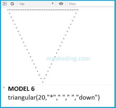Contoh Model 6 Script Segitiga