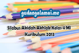 Silabus Akidah Akhlak Kelas 4 MI Kurikulum 2013