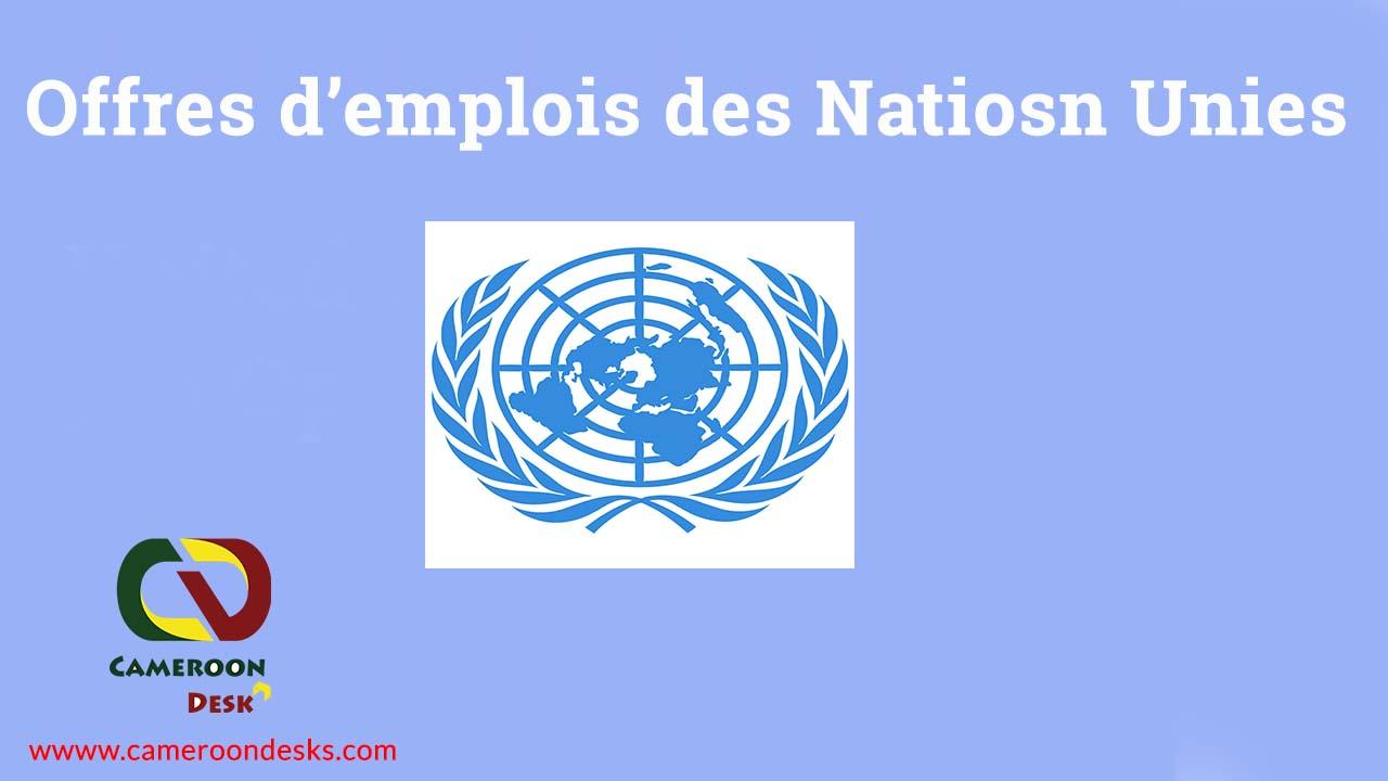 Offres d'emplois des Nations Unies 2022-2023