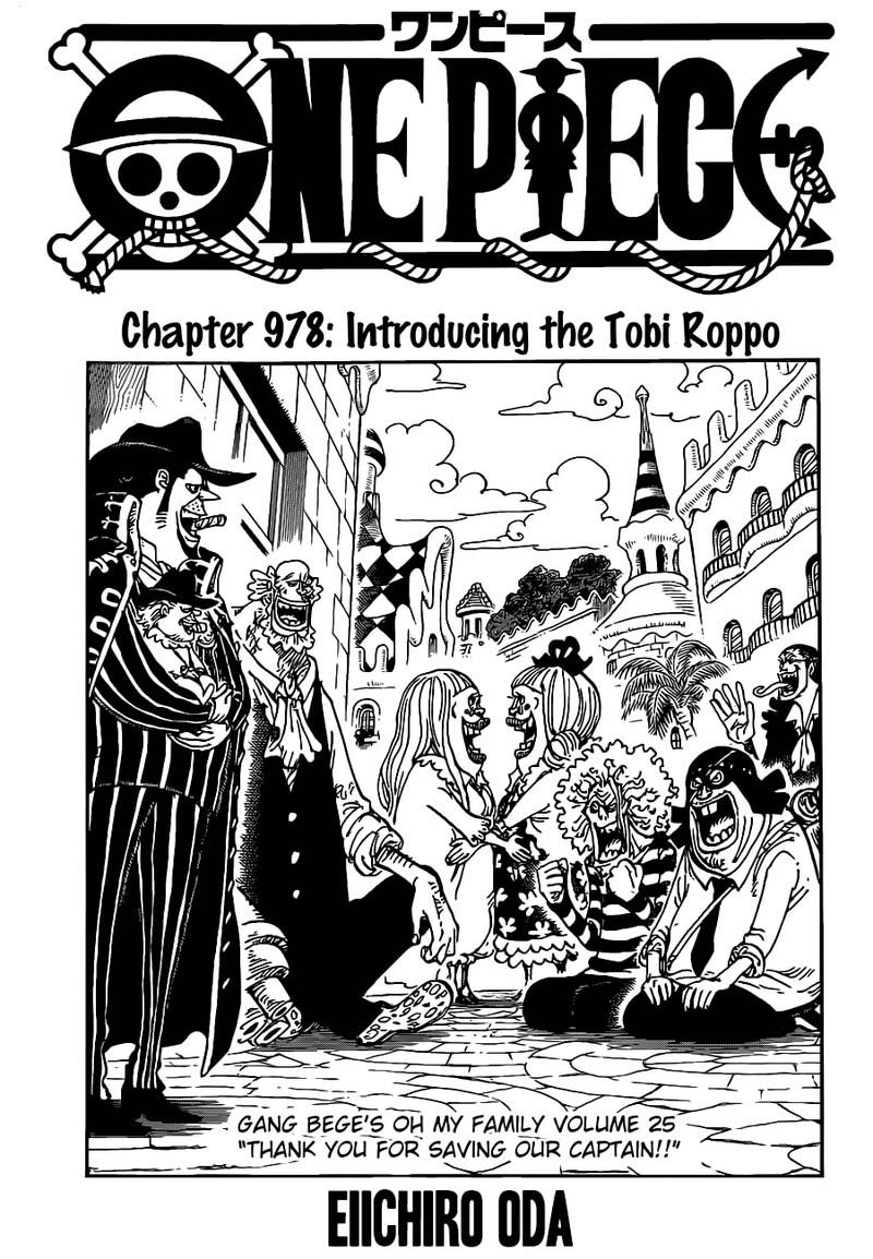 One Piece Manga Chapter 978 - Image 002