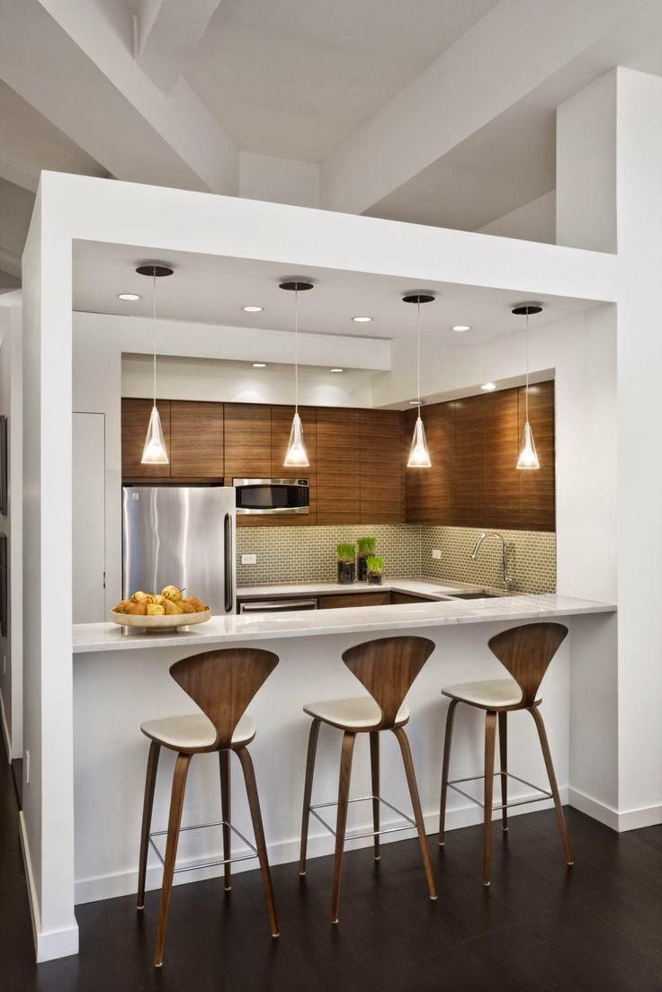De 30 cocinas modernas peque as llenas de inspiraci n for Muebles para cocinas pequenas modernas