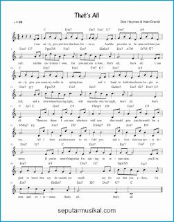 chord that's all lagu jazz standar