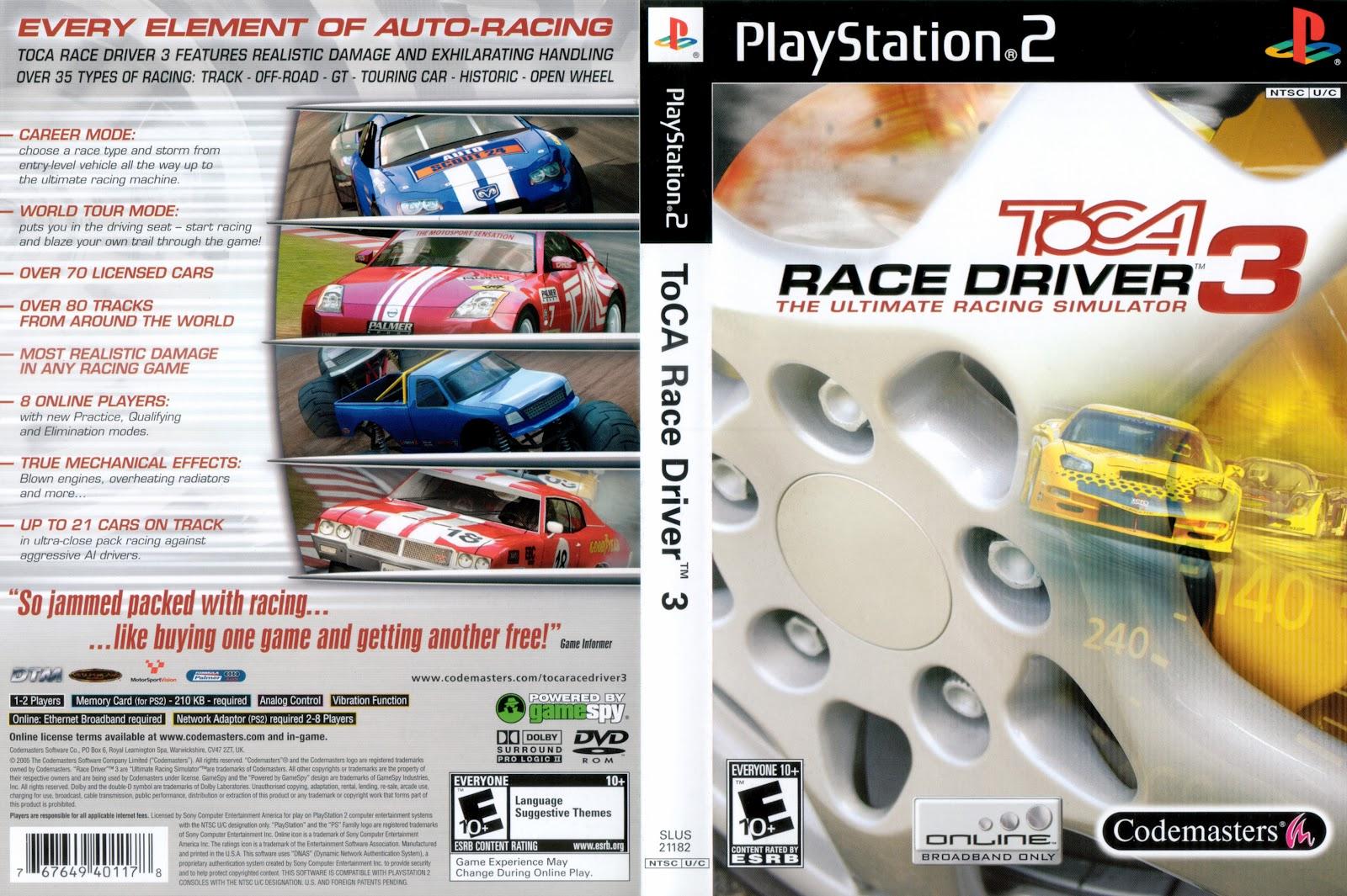 Toca Race Driver 3 Ps2 Ntsc - Abcastorela