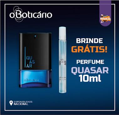 Amostras Grátis - Perfume Quasar 10ml O Boticário