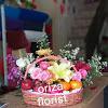 Rangkaian Bunga Keranjang dan Buah