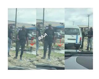 Delta Policemen Order Man To Lie Inside A Dirty Water