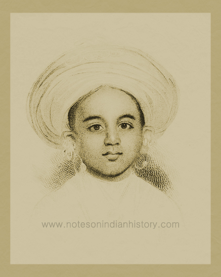 Krishnaraja Wodeyar III at the age of five