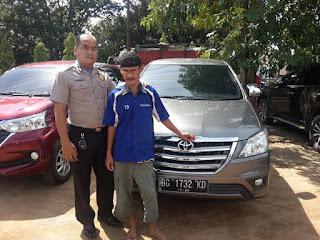 Polsekta Kayuagung Ringkus Pelaku Penggelapan Mobil Rental