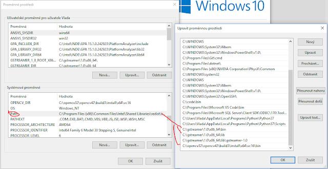 gstreamer windows 10 opencv