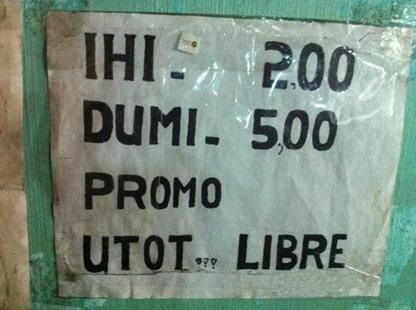 kubeta signage CR comfort room in the Philippines