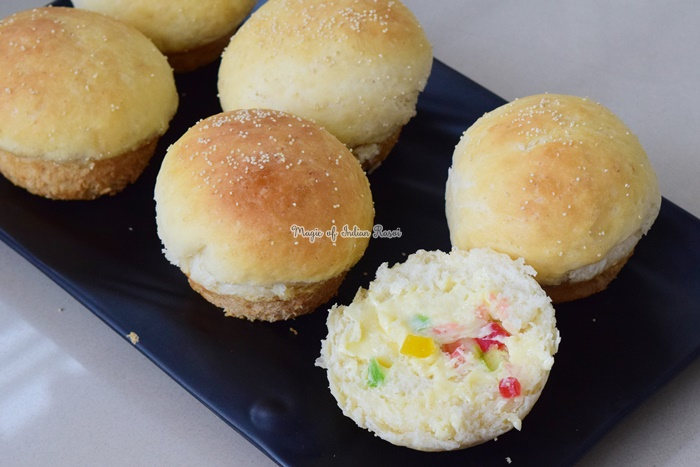 Homemade Sweet Maska Bun - Milk Bread Buns Recipe - मिल्क स्वीट बन  रेसिपी - Priya R - Magic of Indian Rasoi