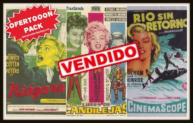 OFERTON Pack 3 Folletos Cine de Marilyn Monroe