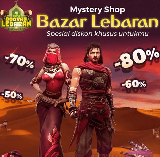 Mystery Shop Free Fire (FF) Bazar Lebaran Bisa Dapat Diskon Sampai 80%!