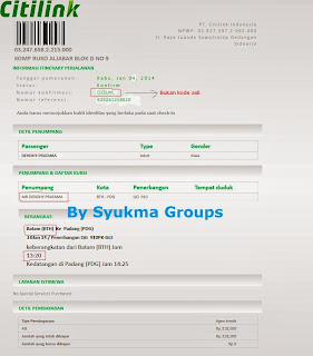 Booking Citilink
