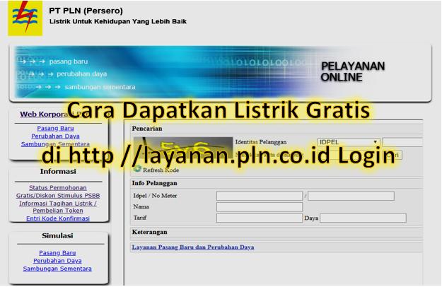 Dapatkan Listrik Gratis Januari 2021 Login Http Layanan Pln Co Id Ropini Xyz