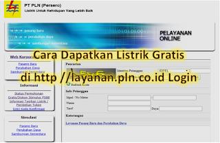 Cara Dapatkan Listrik Gratis di http //layanan.pln.co.id Login