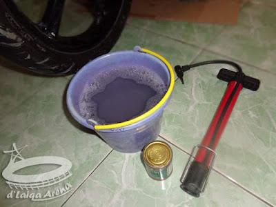 air sabun dan pompa