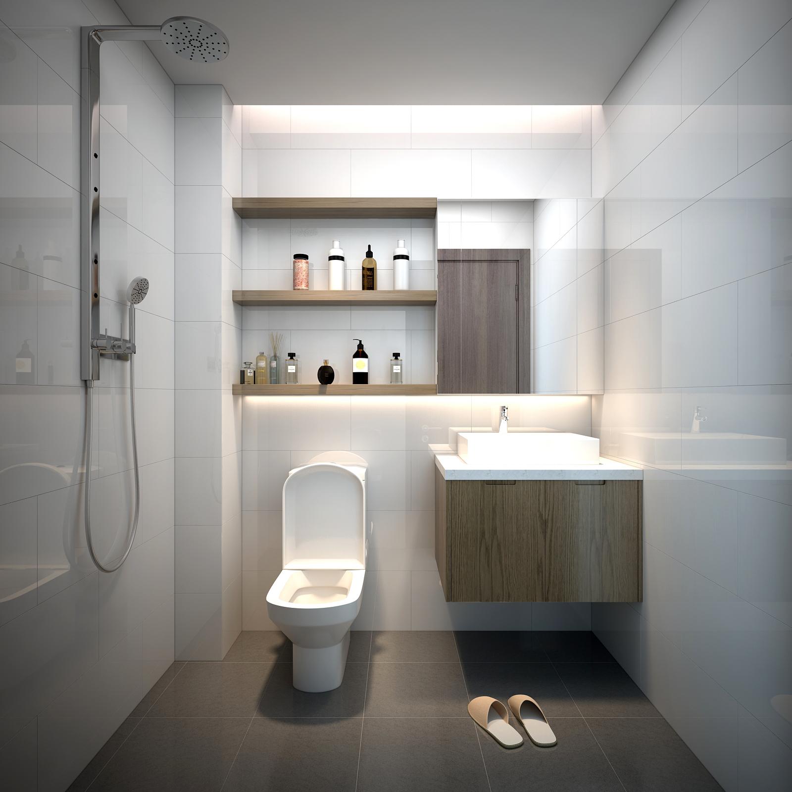 Bộ tủ chậu lavabo phòng thứ 2