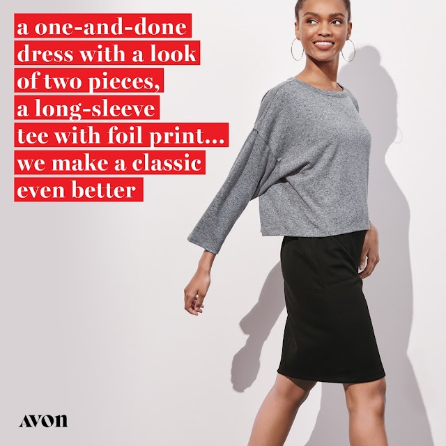 avon catalog Ava Mixed Media Dress