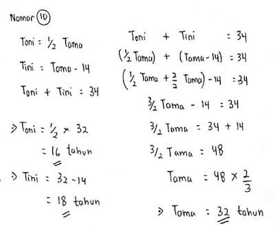 Contoh Soal Psikotes Matematika dan Jawabannya 7