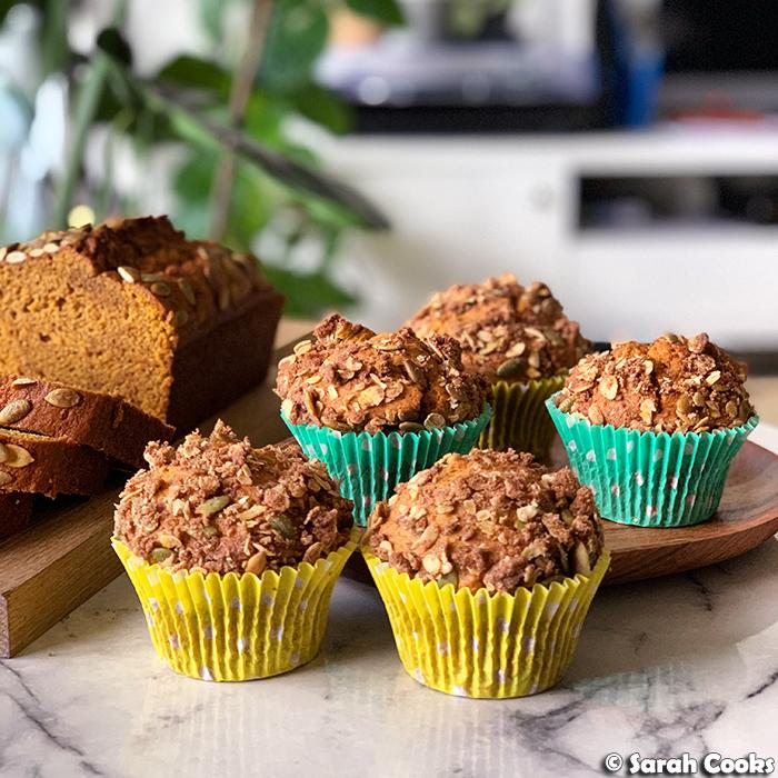 Bravetart's Pumpkin Streusel Muffins