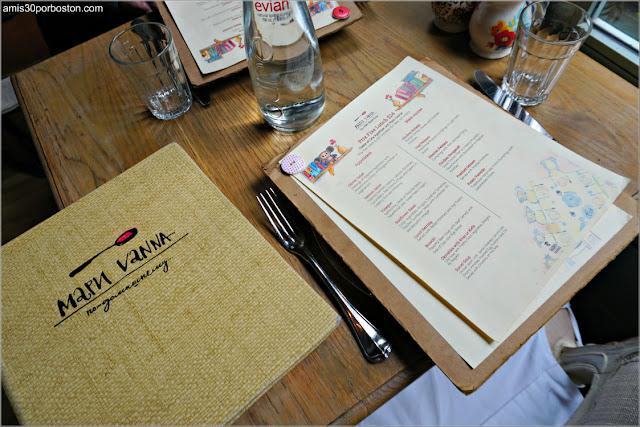 Cartas del Restaurante Ruso Mari Vanna en Nueva York