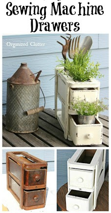 Sewing Machine Drawers Re-purposed As Plant Holder