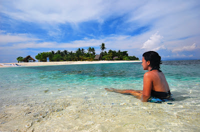 Digyo island a small island in Inopacan, Leyte with crystal clear waters