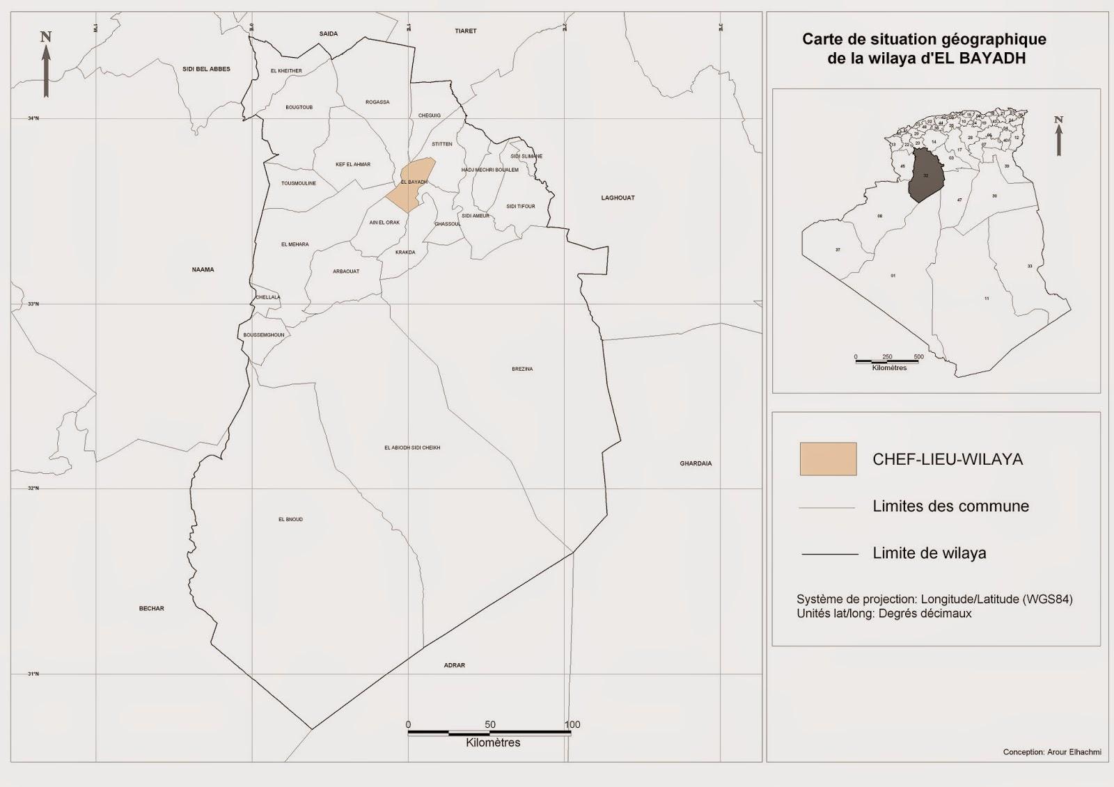 Carte Geographique De Lalgerie.Decoupage Administratif De L Algerie Monographie Carte De