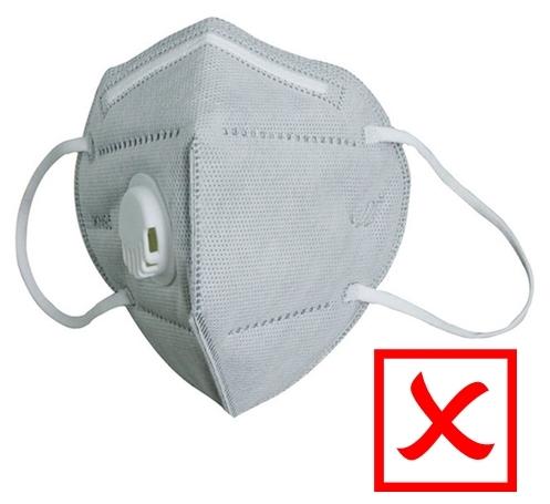 máscaras dotadas de válvulas de expiração N95 e PFF2