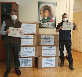 Dalla Cina 10mila mascherine per il porto di Trieste