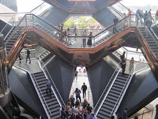 Entrance To The Vessel in Hudson Yards.