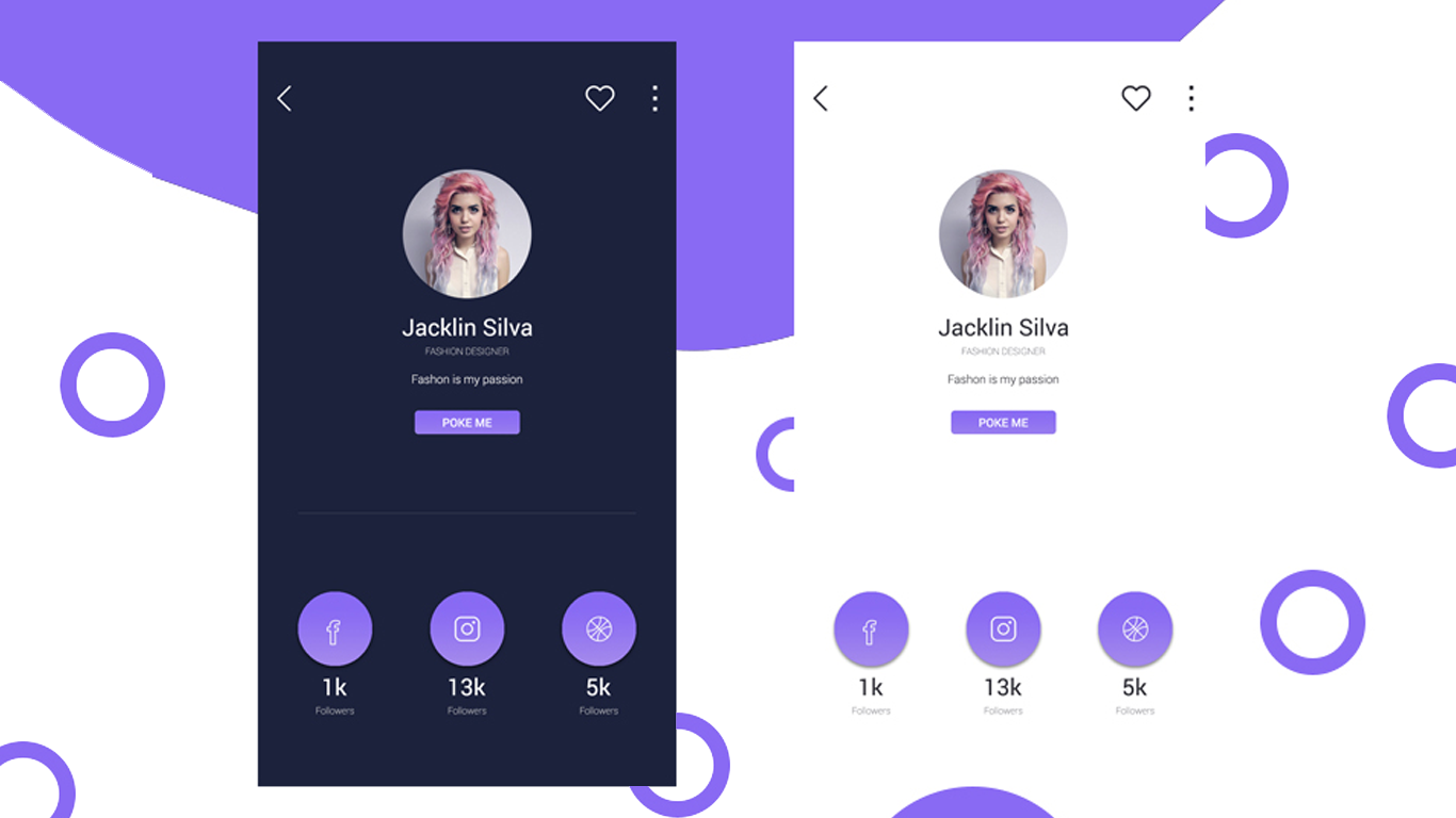 How to make A Good Looking Profile Page Concept UI Design With Dark