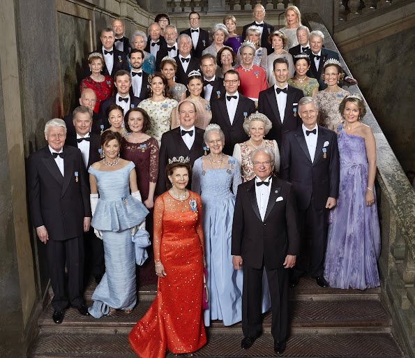 King Carl Gustaf , Queen Silvia, Queen Mathilde, King Flippe, Crown Princess Victoria, Prince Daniel, Princess Madeleine and Christopher O'Neill, Former Spanish Queen Sofia and King Juan Carlos, Crown Prince Frederik and Crown Princess Mary of Denmark, Queen Margrethe of Denmark, Queen Beatrix of the Netherlands, Princess Takamado of Japan, Princess Märtha Louise of Norway and Ari Behn, Prince Albert of Monaco