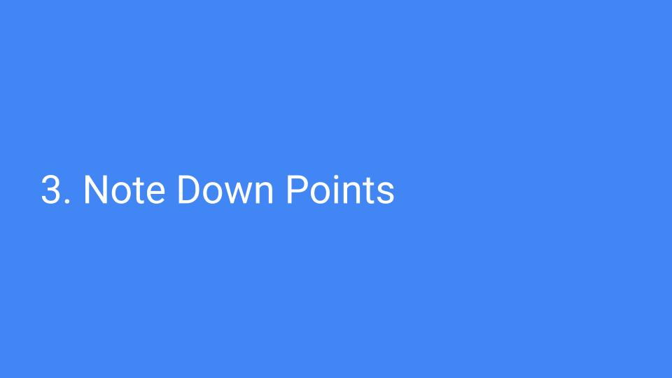note down points